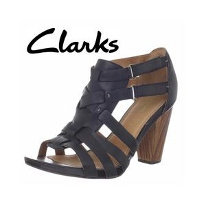 Clarks Indigo Rosa Hyde Leather Sandals Size 5M